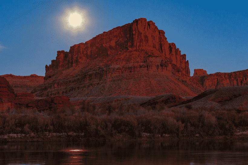 Moonrise over Arizona Canyons
