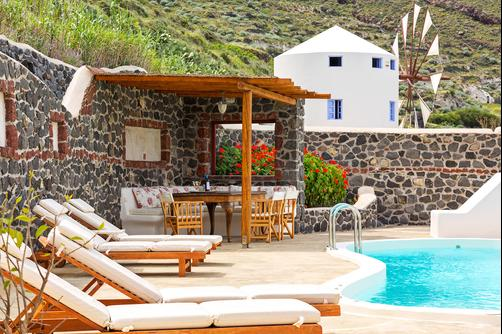 Windmill Villas - Imerovigli - Patio