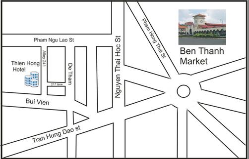 Thien Hong Guesthouse - Ho Chi Minh City - Map
