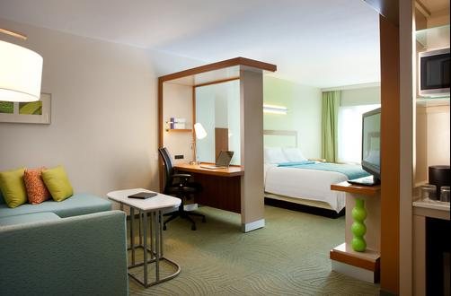 SpringHill Suites by Marriott Las Vegas Convention Center - Las Vegas - Bedroom