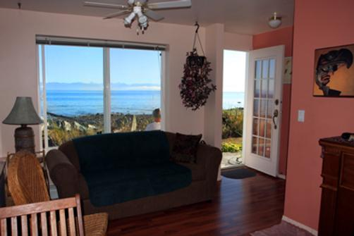 Copes Islander Oceanfront B&B - Comox - Living room