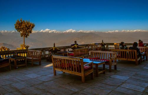 Peaceful Cottage & Cafe du Mont - Nagarkot - Patio