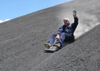 Managua - Volcano Sliding - One of the many exciting activities one can enjoy in Nicaragua